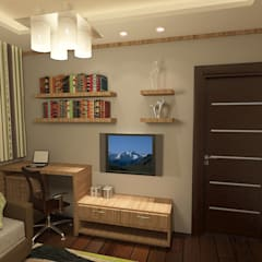 living room render 1 :  غرفة المعيشة تنفيذ Quattro designs