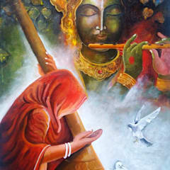 Meera Ke Krishna:  Artwork by Indian Art Ideas,