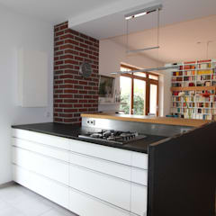 besonderes Wohnküchenflair:  Küchenzeile von dipl.-ing. anne-doris fluck innenarchitektin aknw