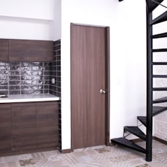APARTAESTUDIOS PALERMO: Salas de estilo  por santiago dussan architecture & Interior design