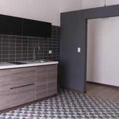 apartamento 7: Cocinas integrales de estilo  por santiago dussan architecture & Interior design