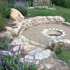Fire pit: Jardines de estilo rural por Hábitas