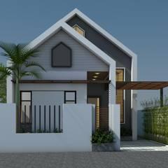 Nhà vườn cấp 4 hiện đại:  Nhà đồng quê by Công ty TNHH CND Associates - Kiến trúc CND,