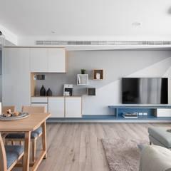 اتاق نشیمن توسط寓子設計, اسکاندیناویایی