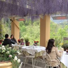 Promienniki podczerwieni HEATSCOPE w ogródku gastronomicznym: styl , w kategorii Gastronomia zaprojektowany przez Technomac