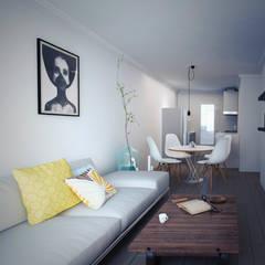 Living room by LUBAAL construcción y arquitectura
