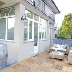 Villa 130mq stile Industrial - Shabby: Terrazza in stile  di T_C_Interior_Design___