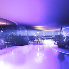 Champagner Bar - Interior Rendering:  Bars & Clubs von Peter Stasek Architects - Corporate Architecture