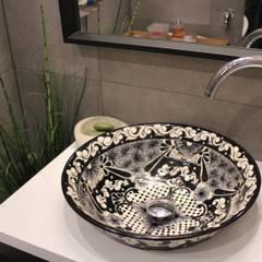 Umywalka nablatowa płaska - Serena: styl , w kategorii Łazienka zaprojektowany przez Cerames