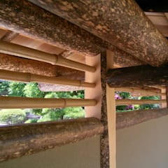 数奇屋門: 一級建築士事務所 匠拓が手掛けたアプローチです。,和風