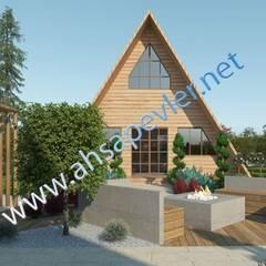 Prefabricated home by SİSNELİ AHŞAP EV - AĞAÇ EV - KÜTÜK EV - BUNGALOV -KAMELYA