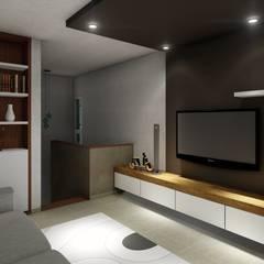 : Salas multimedia de estilo  por ARBOL Arquitectos