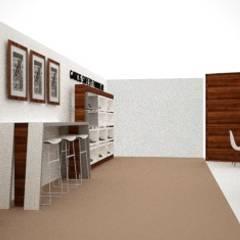 STAND MULTIMARCA: Salas multimedia de estilo minimalista por JCP INTERIOR DESIGN