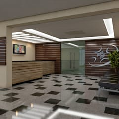 Recepção do Hospital Adventista: Hospitais  por Marcelo Brasil Arquitetura