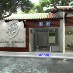 Praça de Conveniência do Hospital Adventista: Hospitais  por Marcelo Brasil Arquitetura