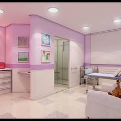 Hospitales de estilo  por Marcelo Brasil Arquitetura