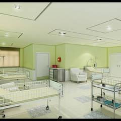 Enfermaria Pediátrica: Hospitais  por Marcelo Brasil Arquitetura