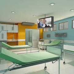 Apartamento Duplo - Adulto: Hospitais  por Marcelo Brasil Arquitetura