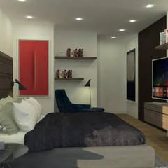 APARTAMENTO VALENBO | Residencial: Habitaciones de estilo  por C | C INTERIOR ARCHITECTURE