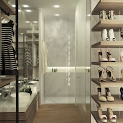 APARTAMENTO VALENBO | Residencial: Vestidores de estilo  por C | C INTERIOR ARCHITECTURE