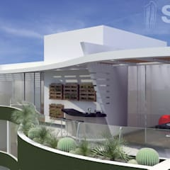 Balcones y terrazas minimalistas de Soluciones Técnicas y de Arquitectura Minimalista