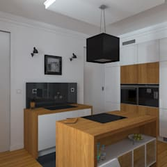 STARA KAMIENICA - Apartament 60 m2: styl , w kategorii Aneks kuchenny zaprojektowany przez HD PROJEKT