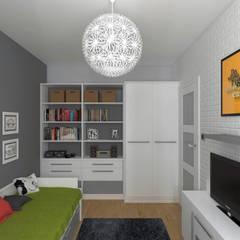 MODERNA - Mieszkanie 69 m2: styl , w kategorii Pokój młodzieżowy zaprojektowany przez HD PROJEKT