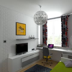 Habitaciones para adolescentes de estilo  por HD PROJEKT