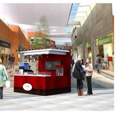 Isla de waffles : Centros Comerciales de estilo  por DCS ARQUITECTOS