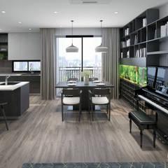 HD303 - Apartment:  Phòng khách by Reform Architects,
