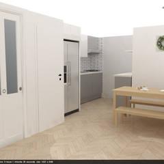 광장동 32평 내츄럴 홈스타일링: homelatte의  주방,미니멀