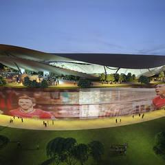 ARQUITECTURA: Estadios de estilo  de AMUSEMENT LOGIC S.L., Moderno