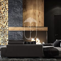 غرفة المعيشة تنفيذ U-Style design studio