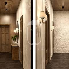 Коридор и прихожая в . Автор – U-Style design studio, Кантри Дерево Эффект древесины