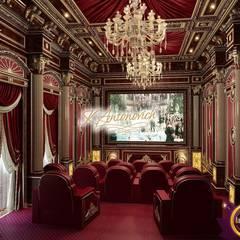 Best home cinema design of Katrina Atonovich:  Media room by Luxury Antonovich Design