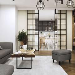 Salon w klimacie skandynawskim: styl , w kategorii Salon zaprojektowany przez MONOstudio