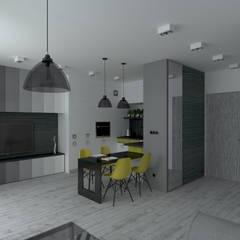 MENNICA - Warianty aranżacji: styl , w kategorii Aneks kuchenny zaprojektowany przez HD PROJEKT