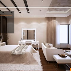 Villa Al Malqa:  غرفة نوم تنفيذ Line Designers, حداثي