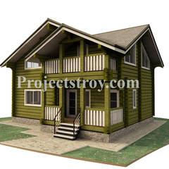 Дом из лафета 10.2 х 7.7 м: Деревянные дома в . Автор – Projectstroy