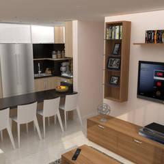 Apartamento AF1: Cocinas de estilo  por TRIBU ESTUDIO CREATIVO, Moderno