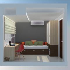 Apartamento AF1: Cuartos de estilo  por TRIBU ESTUDIO CREATIVO, Moderno