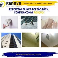 Renovo Reformas Retrofit Fachada 3473-2000 em Belo Horizonte Hospitais clássicos por Renovo Reformas Retrofit Fachada 3473-2000 em Belo Horizonte Clássico Cerâmica
