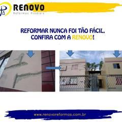 Renovo Reformas Retrofit Fachada 3473-2000 em Belo Horizonte: Shopping Centers  por Renovo Reformas Retrofit Fachada 3473-2000 em Belo Horizonte