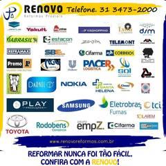 Renovo Reformas Retrofit Fachada 3473-2000 em Belo Horizonte: Hotéis  por Renovo Reformas Retrofit Fachada 3473-2000 em Belo Horizonte