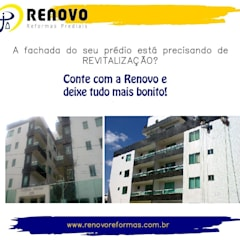 Centros de exhibición de estilo  por Renovo Reformas Retrofit Fachada 3473-2000 em Belo Horizonte