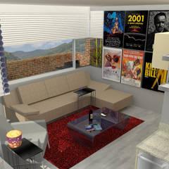 PH 513: Salas / recibidores de estilo  por TRIBU ESTUDIO CREATIVO, Moderno