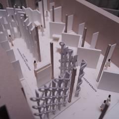 Maqueta de la exposición: Museos de estilo  por Arketzali Taller de Arquitectura