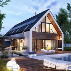 EX 19 G2 ENERGO PLUS - dom, który oddycha światłem : styl , w kategorii Dom jednorodzinny zaprojektowany przez Pracownia Projektowa ARCHIPELAG