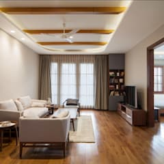 Aggarwal Residence: modern Media room by groupDCA