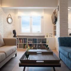 Diseño interior de vivienda: Salones de estilo  de Sube Susaeta Interiorismo